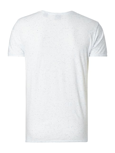 Scotch & Soda T-Shirt in Melangeoptik Offwhite - 1