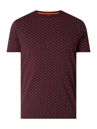 Scotch & Soda T-Shirt mit Allover-Muster Rot - 1