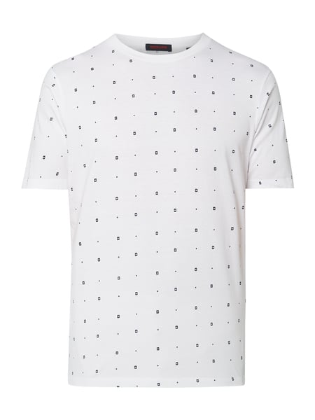 Scotch & Soda T-Shirt mit Allover-Muster Weiß - 1