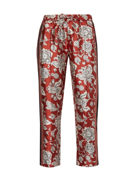Maison Scotch Track Pants mit Allover-Muster Kupfer