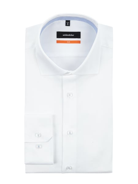 SEIDENSTICKER Slim Fit Business-Hemd aus Twill Weiß - 1