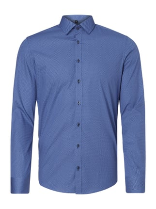 Slim Fit Hemd mit Allover-Muster Blau / Türkis - 1