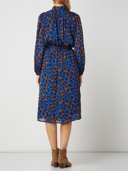 SELECTED FEMME Kleid mit Allover-Muster in Blau / Türkis ...