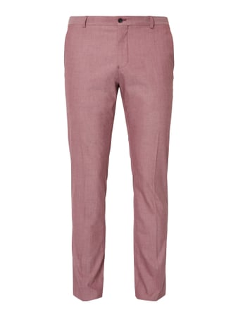 Selected Homme Anzug-Hose mit Stretch-Anteil Rosa - 1