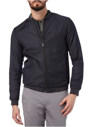 Selected Homme Bomber in Denimoptik Marineblau - 1
