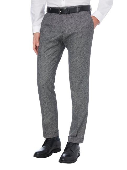Selected Homme Business-Hose in Salz & Pfeffer-Optik Mittelgrau - 1