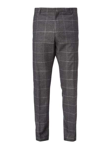 Selected Homme Business-Hose mit Glencheck Hellgrau