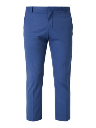 Selected Homme Cropped Slim Fit Anzug-Hose mit Stretch-Anteil Blau - 1
