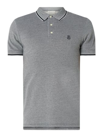 Selected Homme Poloshirt aus Organic Cotton Blau - 1