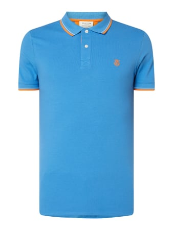 Selected Homme Poloshirt aus Organic Cotton Modell 'New Season' Türkis - 1