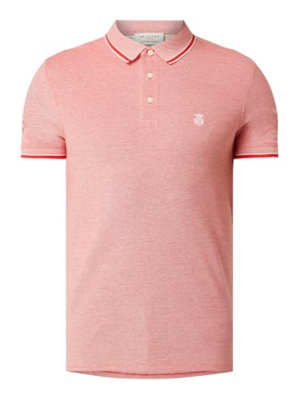 Selected Homme Poloshirt aus Organic Cotton Modell 'Twist' Rot - 1