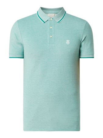 Selected Homme Poloshirt aus Organic Cotton Modell 'Twist' Blau - 1