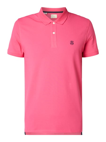 Selected Homme Poloshirt mit Stretch-Anteil Rot