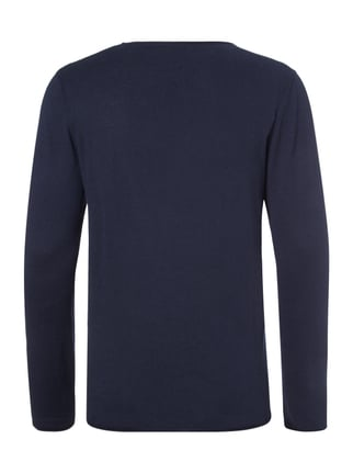 Selected Homme Pullover aus Baumwoll-Seide-Mix Marineblau - 1