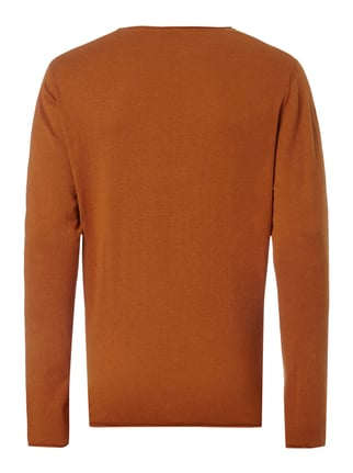Selected Homme Pullover aus Baumwoll-Seide-Mix Orange - 1
