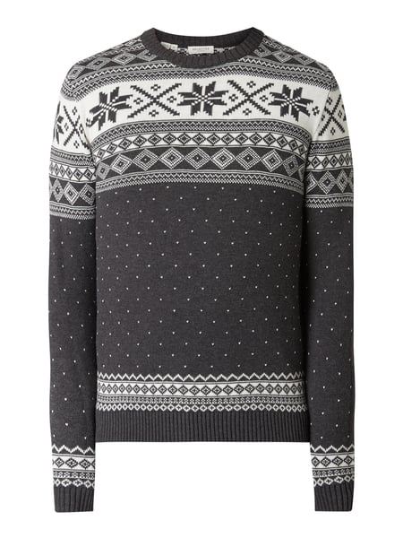 Selected Homme Pullover aus Organic Cotton Grau - 1