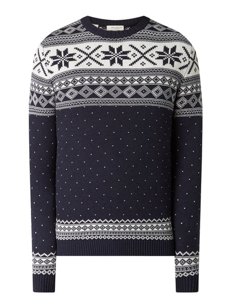 Selected Homme Pullover aus Organic Cotton Blau - 1