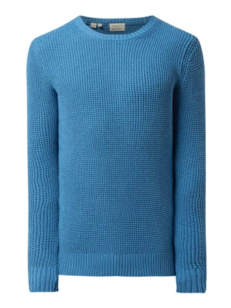 Selected Homme Pullover aus Organic Cotton Modell 'Ned' Blau - 1