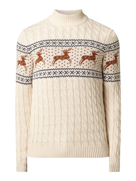 Selected Homme Pullover aus Organic Cotton Weiß - 1