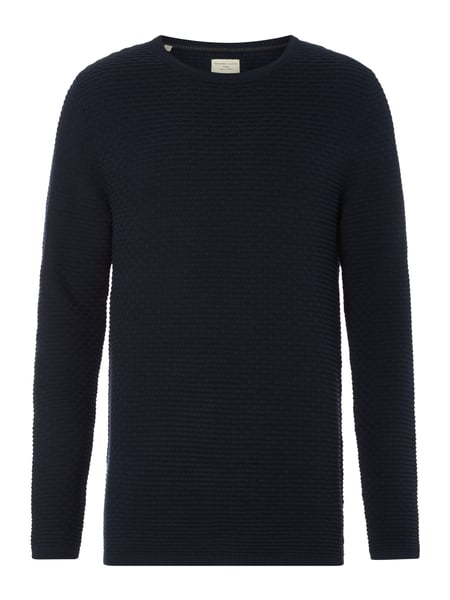 Selected Homme Pullover mit Strickmuster Marineblau