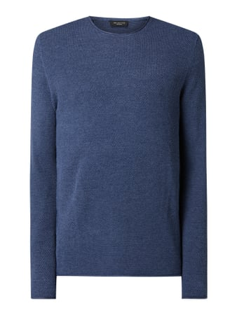 Selected Homme Pullover Modell 'Rocky' - 'Better Cotton Initiative' Blau - 1