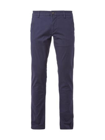 Regular Fit Chino mit Stretch-Anteil Blau / Türkis - 1