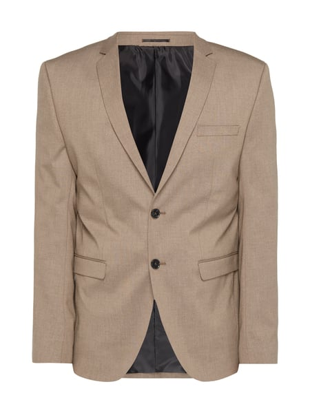 Selected Homme Slim Fit 2-Knopf-Sakko mit Stretch-Anteil Beige