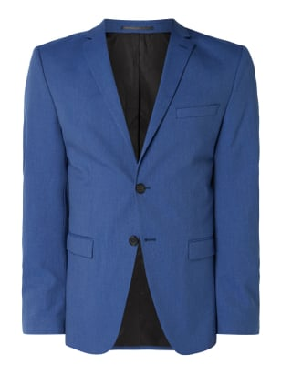 Selected Homme Slim Fit 2-Knopf-Sakko mit Stretch-Anteil Blau - 1