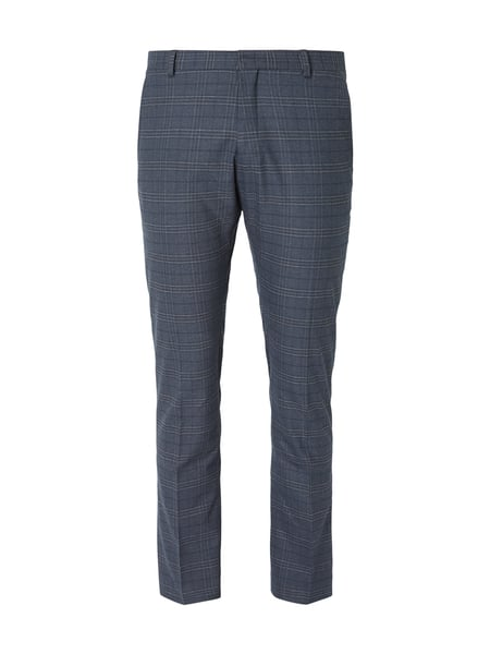 Selected Homme Slim Fit Anzug-Hose mit Karomuster Blau - 1