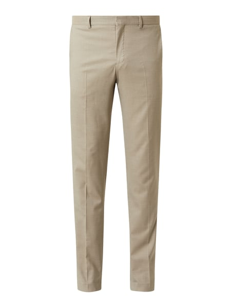 Selected Homme Slim Fit Anzughose mit Stretch-Anteil Modell 'Mazenock' Beige - 1