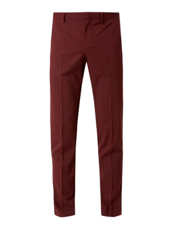 Selected Homme Slim Fit Anzughose mit Stretch-Anteil Modell 'Mylologan' Rot - 1