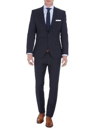 Selected Homme Slim Fit Businesshose mit Woll-Anteil in Blau / Türkis - 1