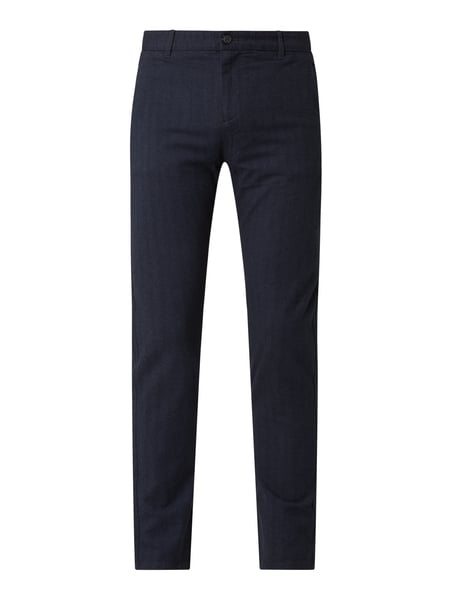 Selected Homme Slim Fit Chino mit Bio-Baumwolle Modell 'Arval' Blau - 1