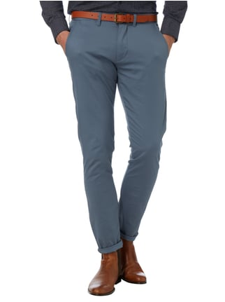 Selected Homme Slim Fit Chino mit Gürtel Blau - 1