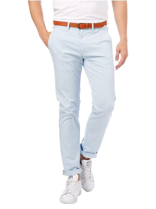 Selected Homme Slim Fit Chino mit Gürtel Hellblau - 1