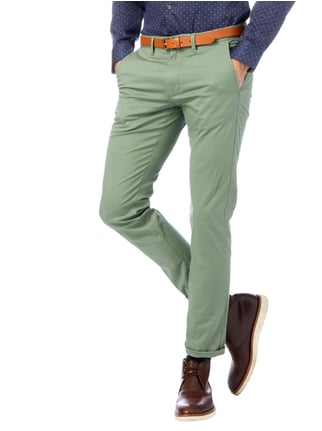 Selected Homme Slim Fit Chino mit Gürtel Hellgrün - 1