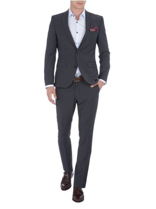 Selected Homme Slim Fit Sakko mit fallendem Revers in Grau / Schwarz - 1