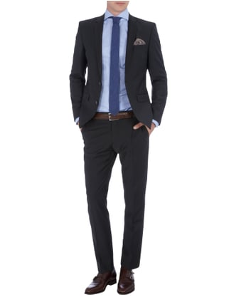 Selected Homme Slim Fit Sakko mit Stretch-Anteil in Grau / Schwarz - 1