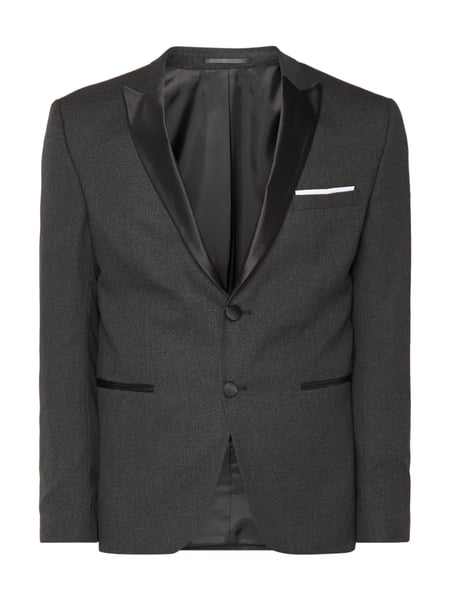 Selected Homme Slim Fit Smoking-Jacke mit Spitzfasson Mittelgrau