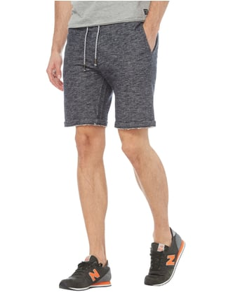 Selected Homme Sweatbermudas aus Baumwoll-Viskose-Mix Marineblau - 1
