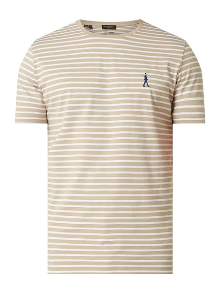 Selected Homme T-Shirt aus Organic Cotton Modell 'Estate' Beige - 1
