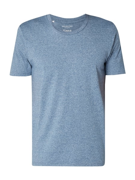 Selected Homme T-Shirt in Melangeoptik Blau