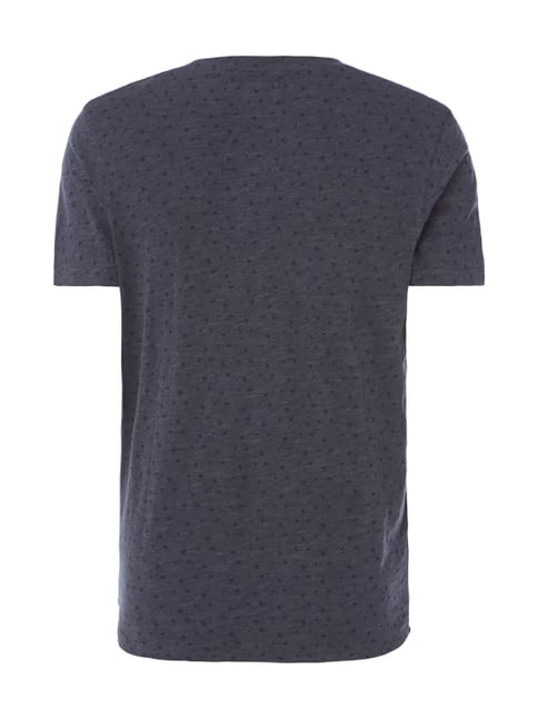 Selected Homme T-Shirt mit Allover-Muster Marineblau - 1