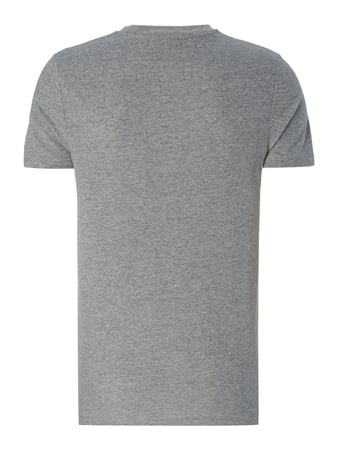 Selected Homme T-Shirt mit Brusttasche Hellgrau - 1