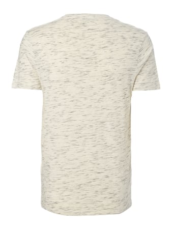 Selected Homme T-Shirt mit Brusttasche Offwhite meliert - 1