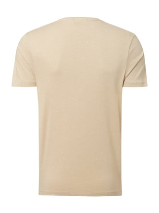 Selected Homme T-Shirt mit Brusttasche Taupe meliert - 1