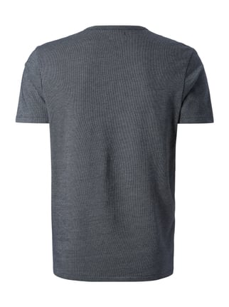 Selected Homme T-Shirt mit feinem Muster Marineblau - 1
