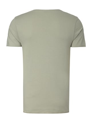 Selected Homme T-Shirt mit Print Aqua Blau - 1