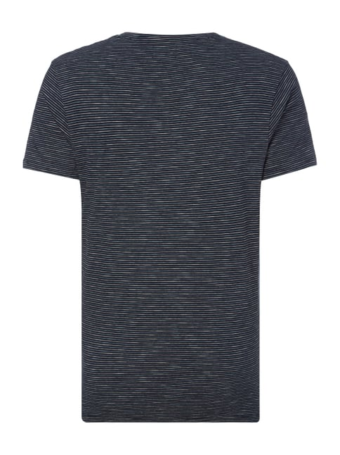 Selected Homme T-Shirt mit Streifenmuster Dunkelblau - 1