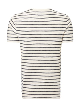 Selected Homme T-Shirt mit Streifenmuster Marineblau - 1